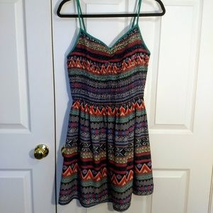 Colorful patterned casual sundress